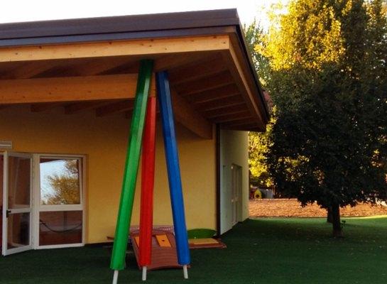 Asilo Gianni Rodari costruzione in legno STP